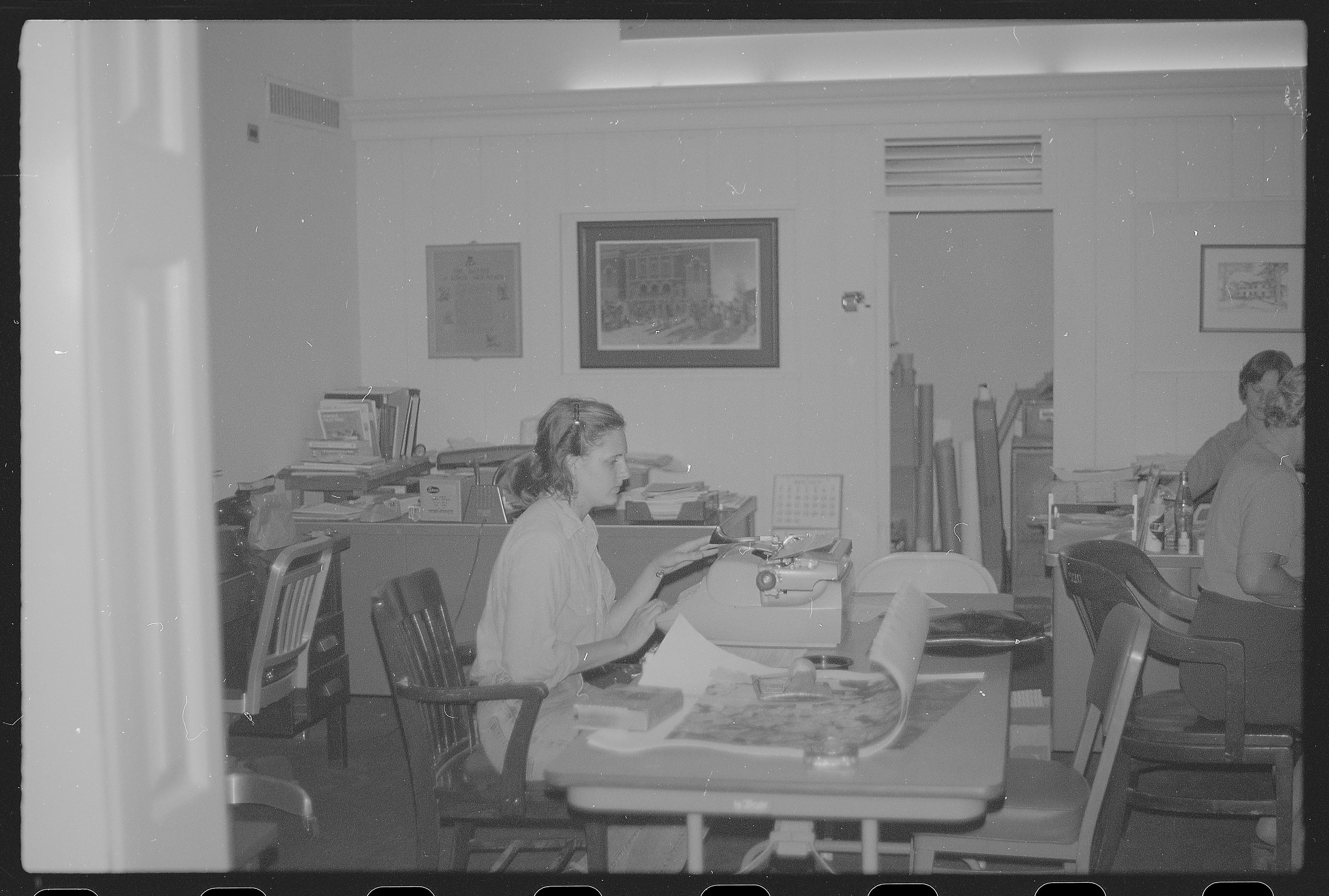 Women working at desks